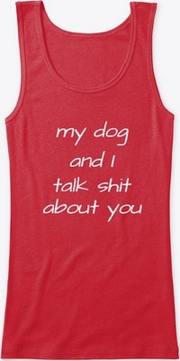 red funny tshirt for dog owners