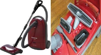 Panasonic Bagged Canister Vacuum Cleaner With Onboard