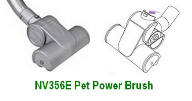 Shark UV356E Pet Power Brush with Cleaning Illustration
