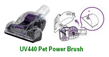 Shark UV440 Pet Power Brush with Cleaning Illustration